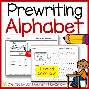 MORE PRE-WRITING PRACTICE FUN - ALPHABET