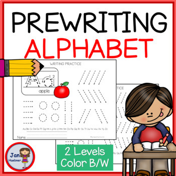 Pre-Writing Practice Pages - Alphabet