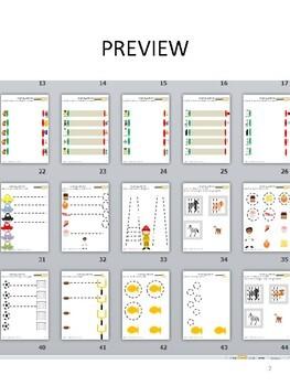 50 PAGES PRE-WRITING WORKBOOK 1 vertical horizontal circular strokes prek1 OT