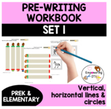 50 PAGES PRE-WRITING WORKBOOK 1 vertical horizontal circul