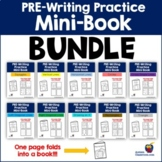 PRE-Writing Practice Mini-Book - BUNDLE (Autism, PreK, K,