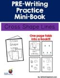 PRE-Writing Practice Mini-Book - Cross Shape Lines (Autism