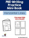 PRE-Writing Practice Mini-Book - Horizonal Lines (Autism,