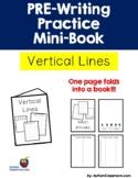 PRE-Writing Practice Mini-Book - Vertical Lines (Autism, P
