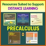 PRECALCULUS GROWING BUNDLE FOR DISTANCE LEARNING - 32% Off