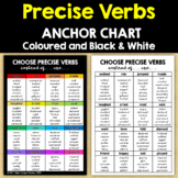 PRECISE VERBS:  Anchor Charts - coloured & black and white