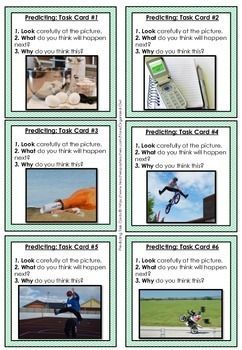 PREDICTING ~ 72 Quick Write Task Cards!!! Photos & Text (G 2-5)