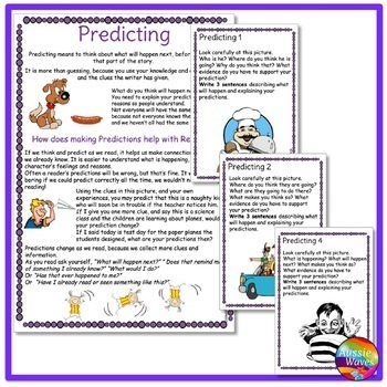 READING Task Cards to Improve PREDICTING COMPREHENSION SKILLS