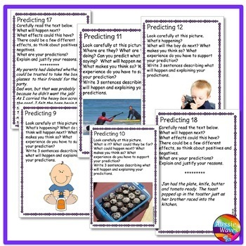 READING Task Cards to Improve PREDICTING COMPREHENSION SKILLS
