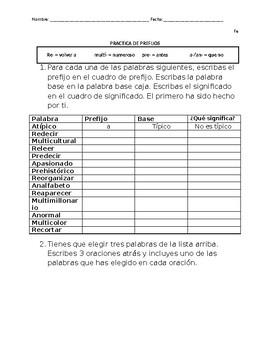 Spanish Practice Worksheets | Teachers Pay Teachers