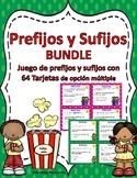 PREFIJOS Y SUFIJOS BUNDLE-Prefijos Task Cards-Sufijos Task