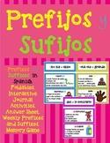 PREFIXES AND SUFFIXES IN SPANISH / PREFIJOS Y SUFIJOS EN ESPAÑOL