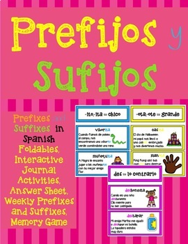 PREFIXES AND SUFFIXES IN SPANISH / PREFIJOS Y SUFIJOS EN ESPAÑOL