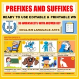 PREFIXES AND SUFFIXES: 16 WORKSHEETS WITH ANSWERS