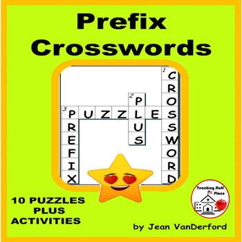 PREFIXES | Crossword Puzzles | Early Finishers | PRACTICE |Gr 4-5-6 CORE | LISTS