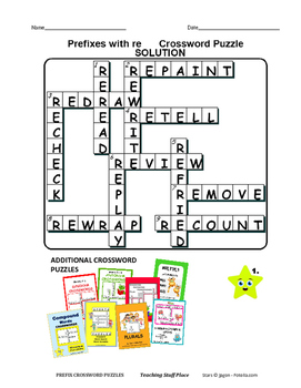 PREFIXES Crossword Puzzles ... Early Finishers   PRACTICE ... Gr 4-5-6 CORE