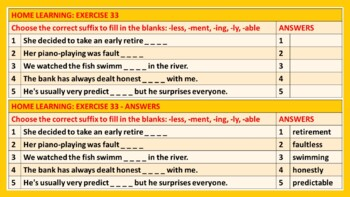 PREFIXES & SUFFIXES: LESSON & RESOURCES