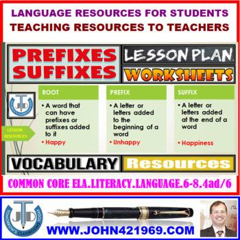 PREFIXES & SUFFIXES: LESSON & RESOURCES
