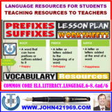 PREFIXES AND SUFFIXES : LESSON AND RESOURCES