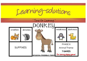 PREFIXES, SUFFIXES, LATIN/GREEK ROOTS +  - 35 DONKEY Card Games - Phases 6 & 7