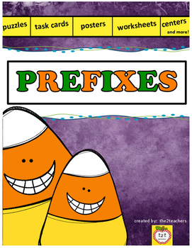 PREFIXES:  task cards, centers, worksheets and more!
