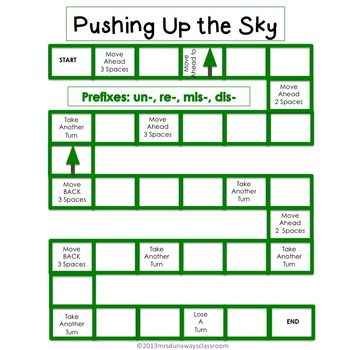 PREFIXES: un-, re-, mis-, dis- (Pushing Up the Sky)