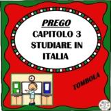 PREGO Capitolo 3 Studiare in Italia TOMBOLA