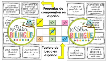 PREGUNTAS DE COMPRENSIÓN DE FICCIÓN EN INGLÉS Y ESPAÑOL