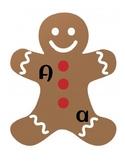 PREK Gingerbread Unit letter matching capital lower case u