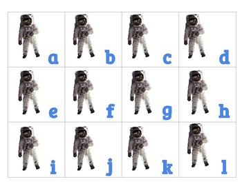 PREK THEME Day and Night astronaut rocket match letters numbers