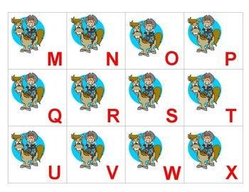 PREK THEME Rodeo Texas Cowboy theme alphabet and number match ESL