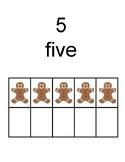 PREK THEME UNIT kindergarten GIngerbread counting 3 ways ten frame subitizing
