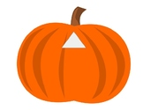 PREK UNIT shapes pumpkins, fall, harvest, matching, 2D sha