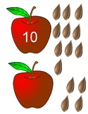 PREK Unit Harvest, Fall, Apples, matching numbers counting