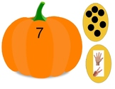 PREK Unit Pumpkins, fall, harvest counting matching number