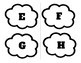 PREK theme weather spring Rain drop clouds alphabet lower and upper case Spanish