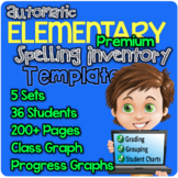 PREMIUM Automatic Elementary Spelling Inventory Template
