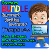 PREMIUM BUNDLE Spelling Inventory Templates