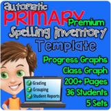 PREMIUM Automatic Primary Spelling Inventory Template