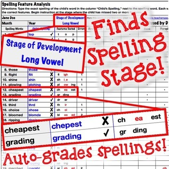 PREMIUM Upper Automatic Spelling Inventory Template