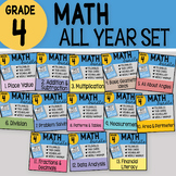 4th Grade Math Interactive Notebook Bundle ~ ALL YEAR SET ~ So Fun & Engaging!