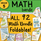 5th Grade Math Interactive Notebook Doodle Foldables - ALL the Foldables Bundle