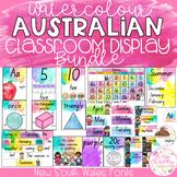 Watercolour Australian Classroom Display Bundle - New South Wales Fonts