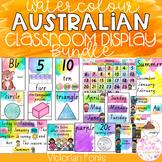Watercolour Australian Classroom Display Bundle - Victorian Fonts