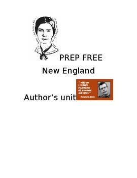 PREP FREE New England Author Study from Hawthorne to Dickinson to Stephen King