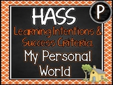 PREP.  HASS – Aus curric Learning Intentions & Success Criteria Posters.