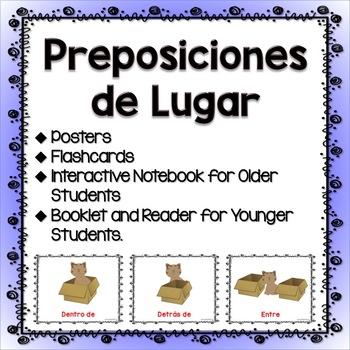 PREPOSICIONES DE LUGAR- POSTERS, FLASHCARDS AND MORE!