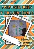 PREPOSICIONES Y CONJUNCIONES /  Prepositions and Conjunctions in Spanish