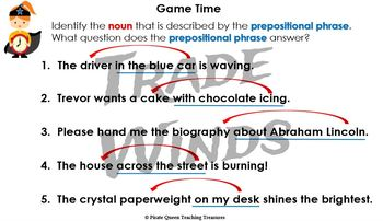 PREPOSITION JOBS PowerPoint / CCSS Aligned 5th Grade Up