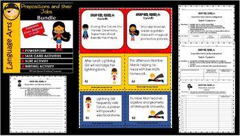 PREPOSITION JOBS Practice Activities / CCSS Aligned 5th Grade Up